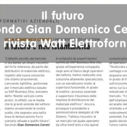 Gian Domenico Ceroni su Watt Eletroforniture