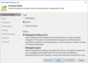 Veeam Replication 9.5 U3 Protection Mode