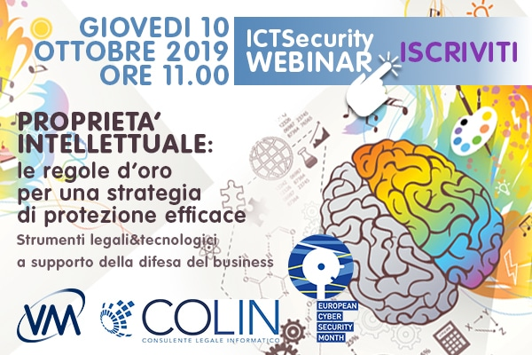 Webinar Proprietà Intellettuale e ICT Security